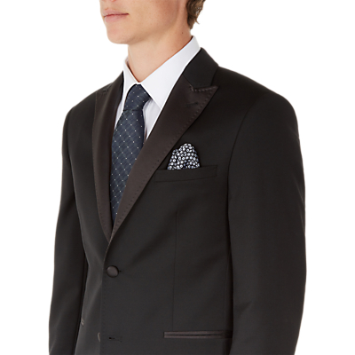Ted Baker Satjonj Satin Lapel Dress Suit Jacket, Black