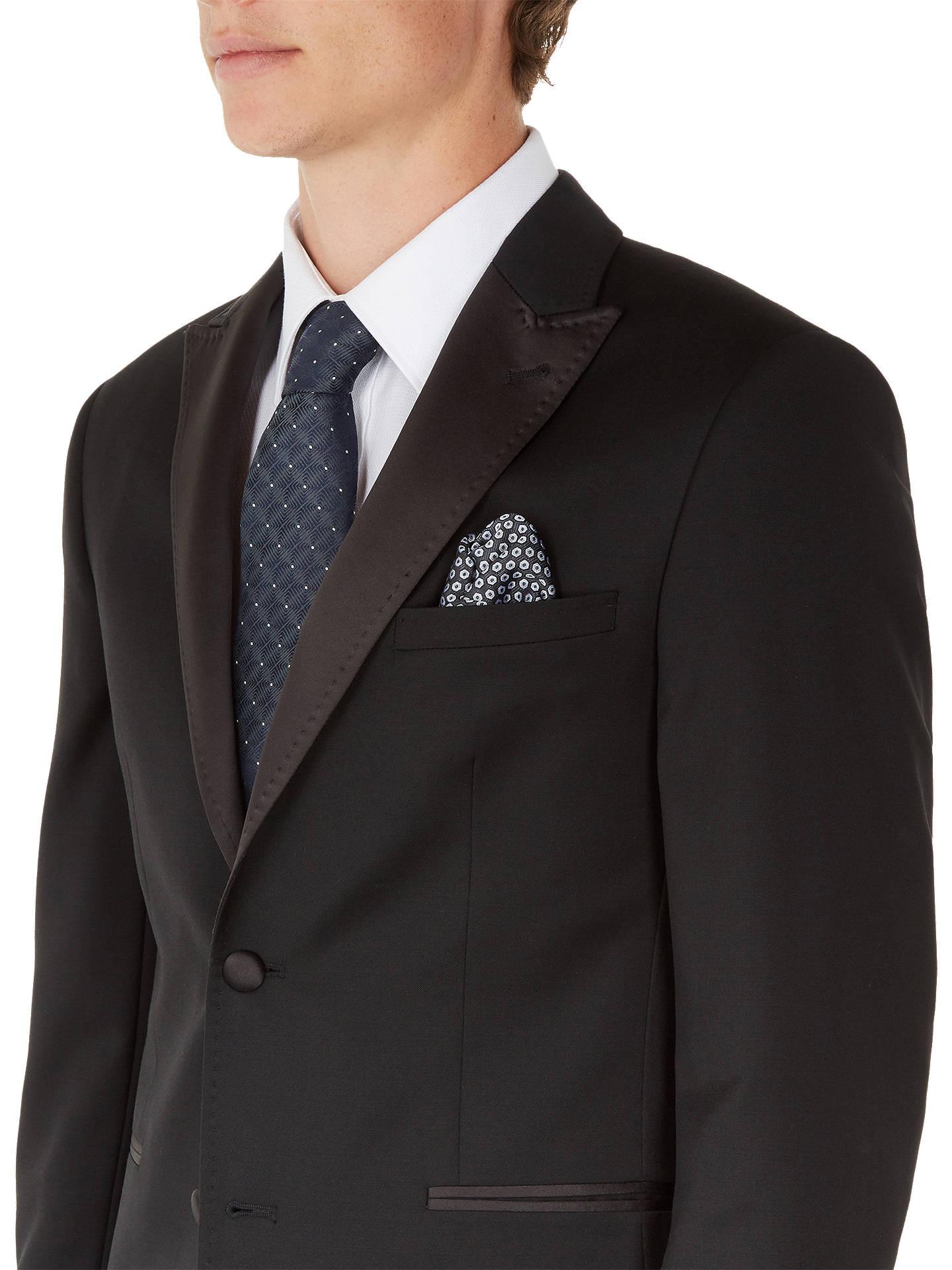 25123d87790 Buy Ted Baker Satjonj Satin Lapel Dress Suit Jacket, Black, 38S Online at  johnlewis ...