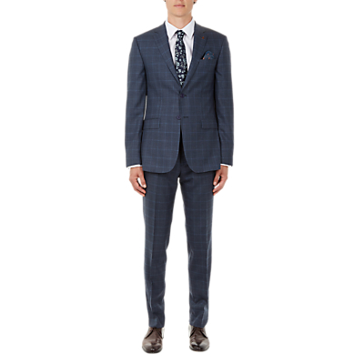 Ted Baker Comforj Check Tailored Suit Jacket, Blue