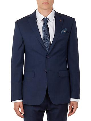 Ted Baker Performance Ovract Wool Birdseye Suit Jacket, Navy