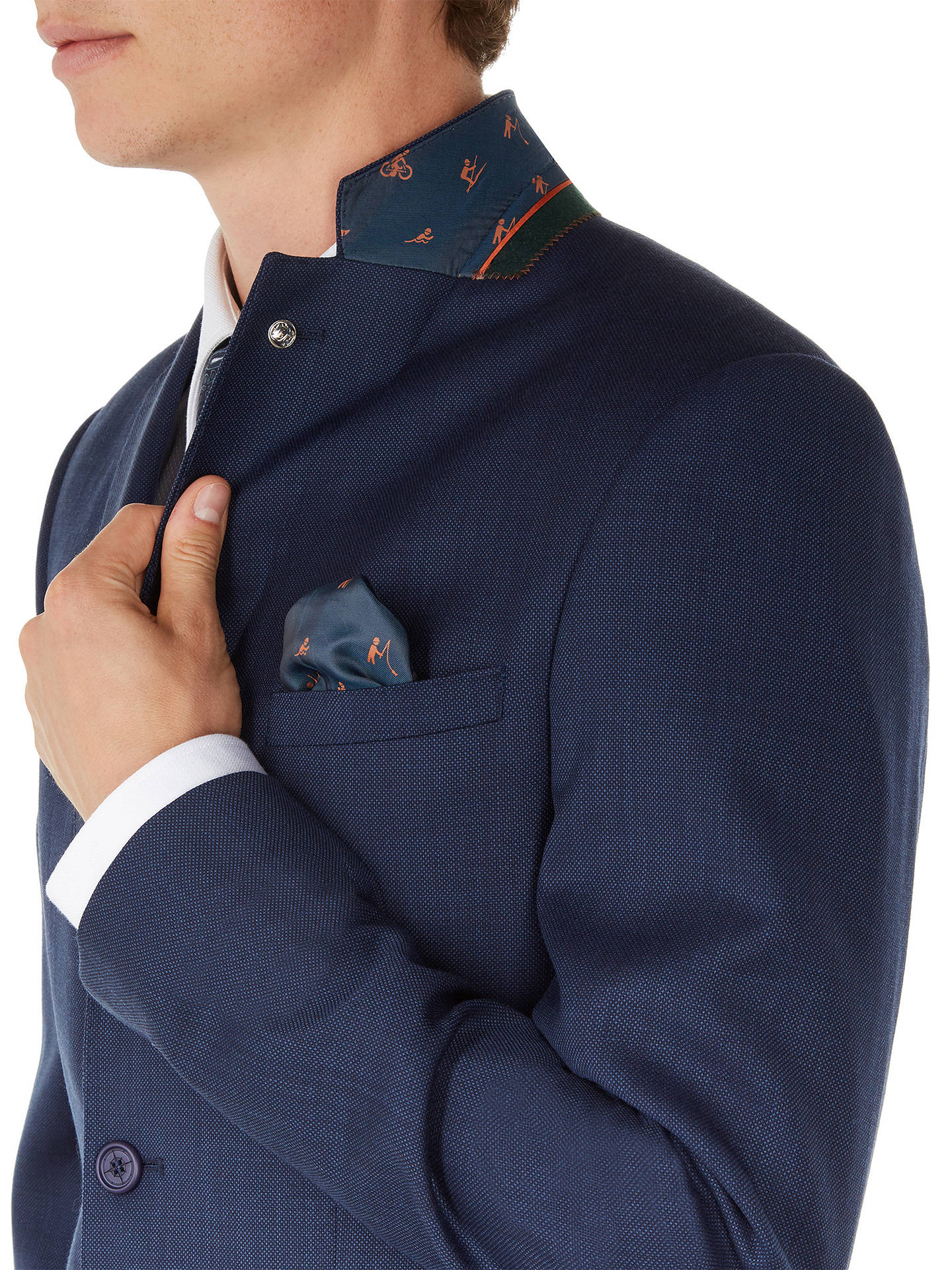BuyTed Baker Performance Ovract Wool Birdseye Suit Jacket, Navy, 40S Online at johnlewis.com