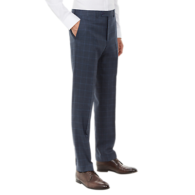 Ted Baker Comfort Check Tailored Suit Trousers, Blue