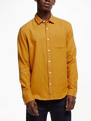 Kin Grindle Cotton Shirt, Mustard
