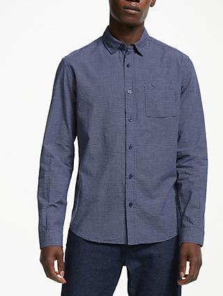 Kin Mini Grid Check Shirt, Navy
