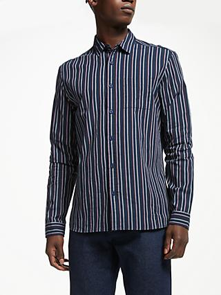 Kin Vertical Stripe Shirt, Navy