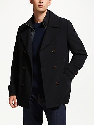 John Lewis & Partners 2 in 1 Pea Coat, Navy