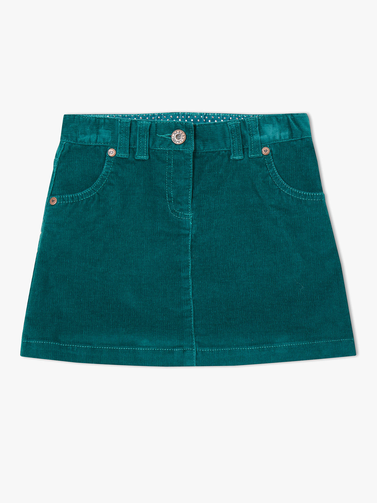 bc9465633 Buy John Lewis & Partners Girls' Corduroy Skirt, Green, 2 years Online at  ...