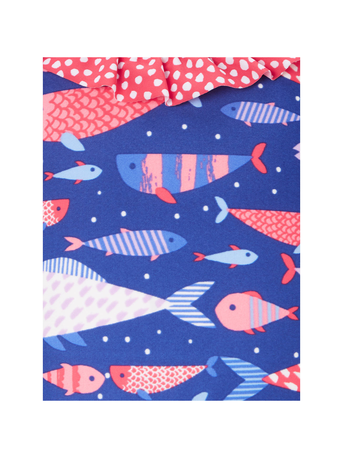 BuyJohn Lewis & Partners Girls' Millie Fish Print Swimsuit, Blue, 2 years Online at johnlewis.com