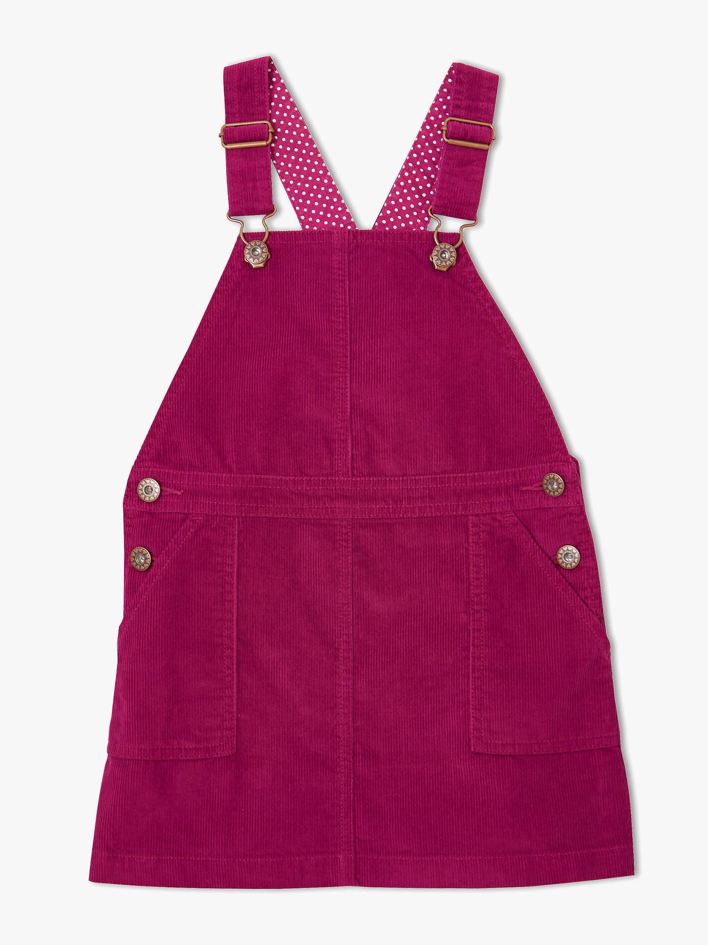 9e62174f8b46 Buy John Lewis & Partners Girls' Corduroy Pinafore Dress, Berry, 2 years  Online ...