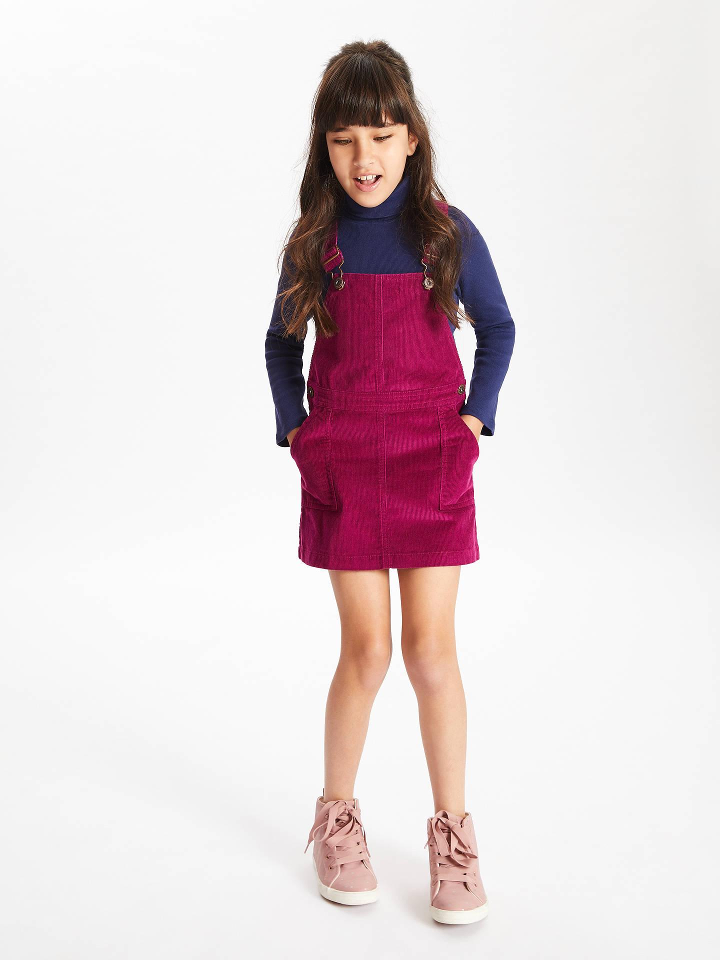 c7b31f8d42da ... Buy John Lewis & Partners Girls' Corduroy Pinafore Dress, Berry, 2  years Online ...