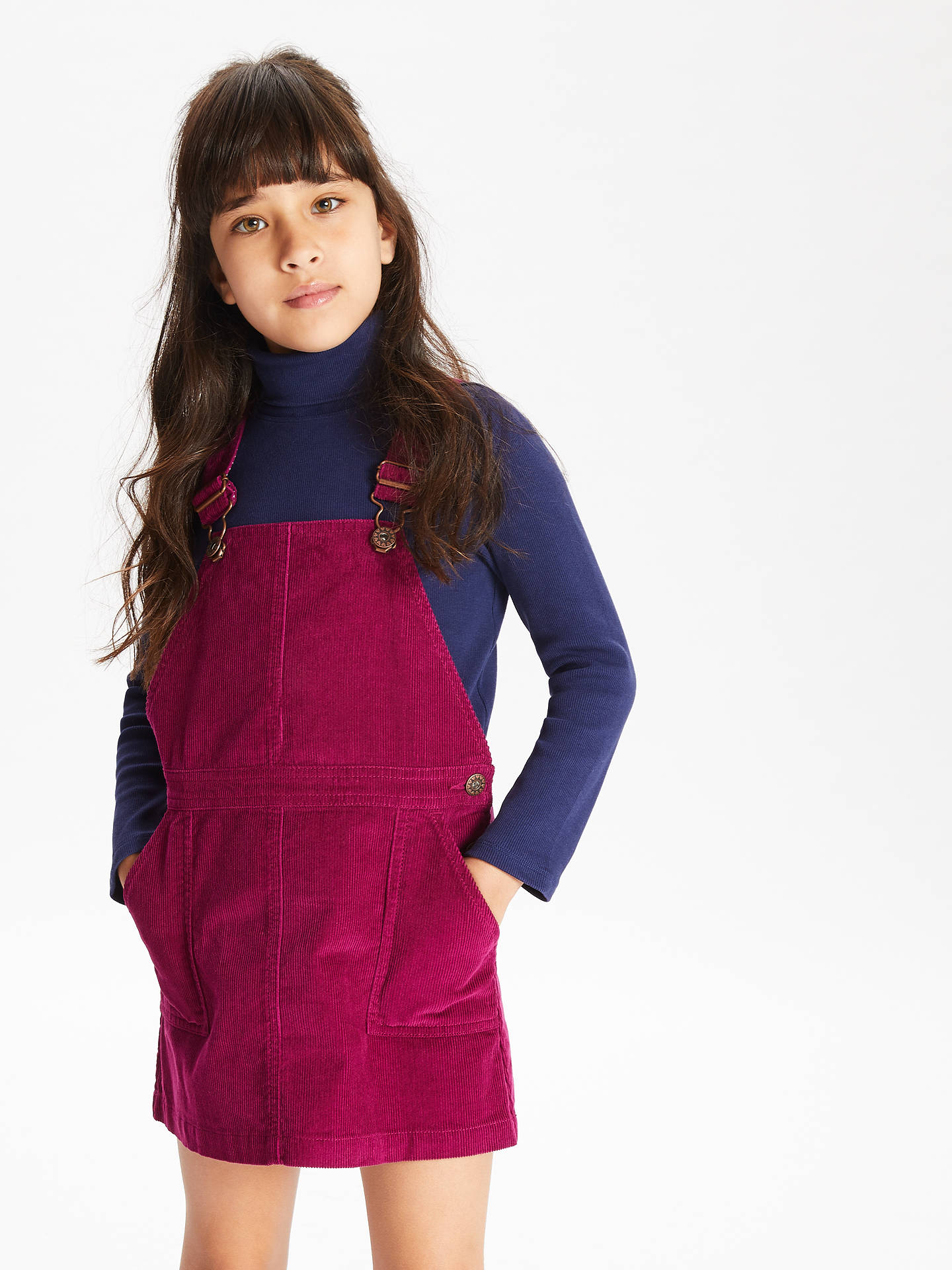 9e0a75c8f ... Buy John Lewis & Partners Girls' Corduroy Pinafore Dress, Berry, 2  years Online ...