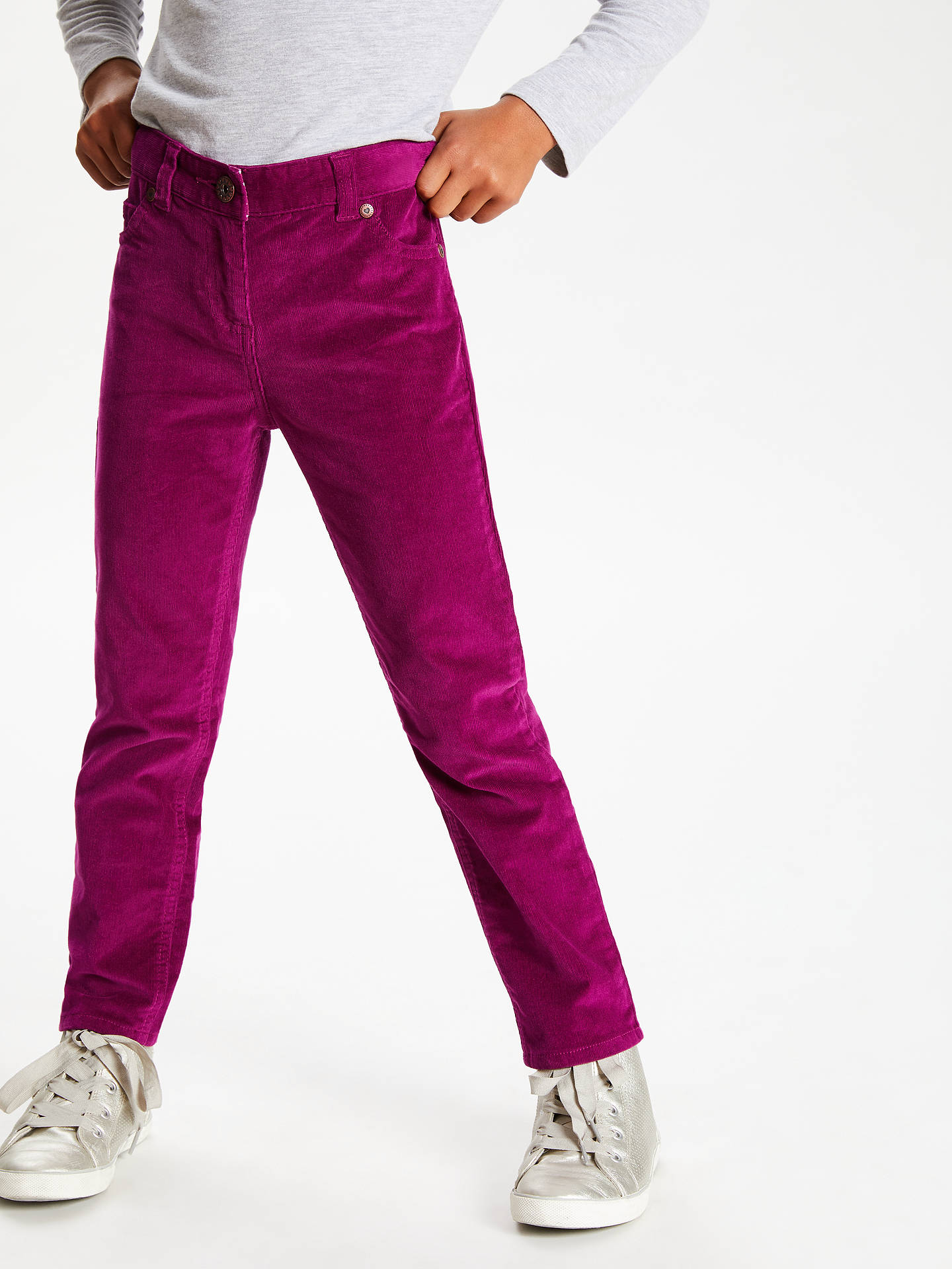 BuyJohn Lewis & Partners Girls' Corduroy Trousers, Berry, 2 years Online at johnlewis.com