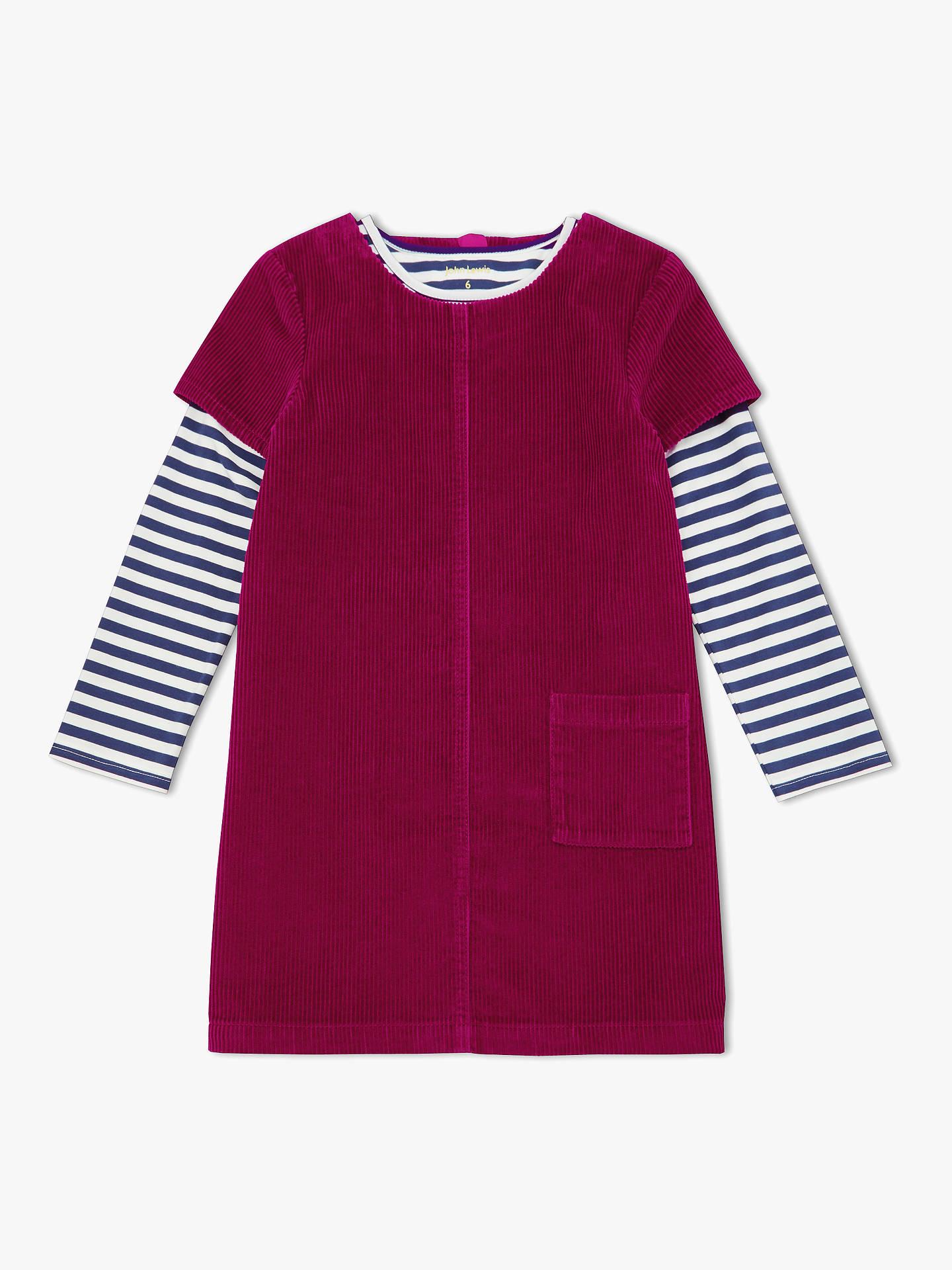 de9d1db51 Buy John Lewis & Partners Girls' Corduroy Pinafore Dress And T-Shirt Set,  ...