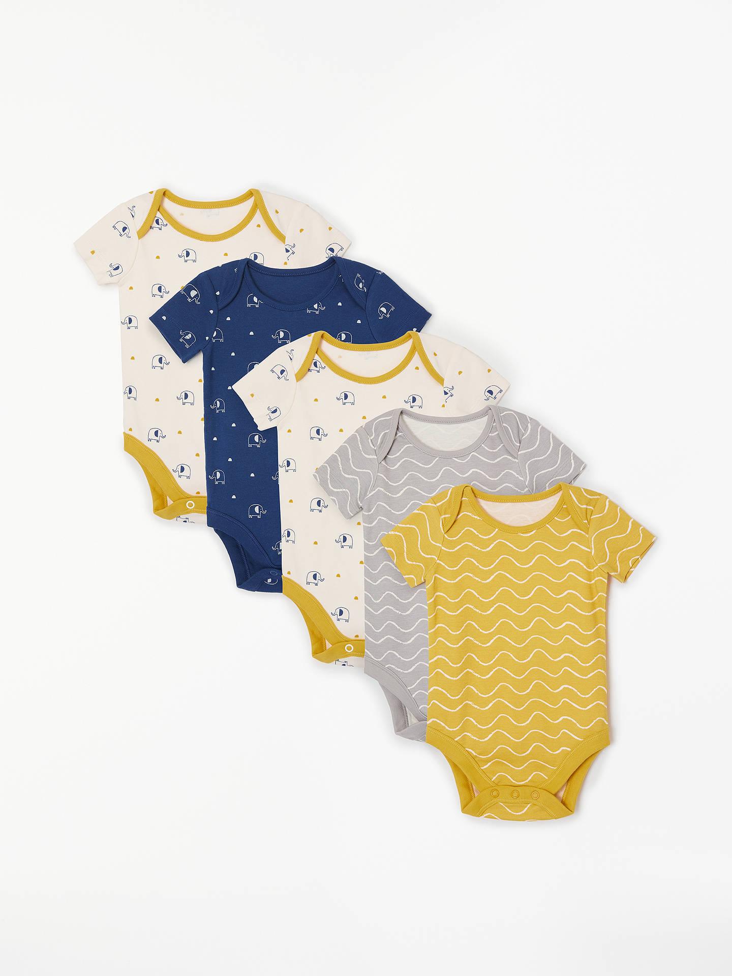 f39d0c30035b John Lewis   Partners Baby GOTS Organic Cotton Elephant Short Sleeve ...