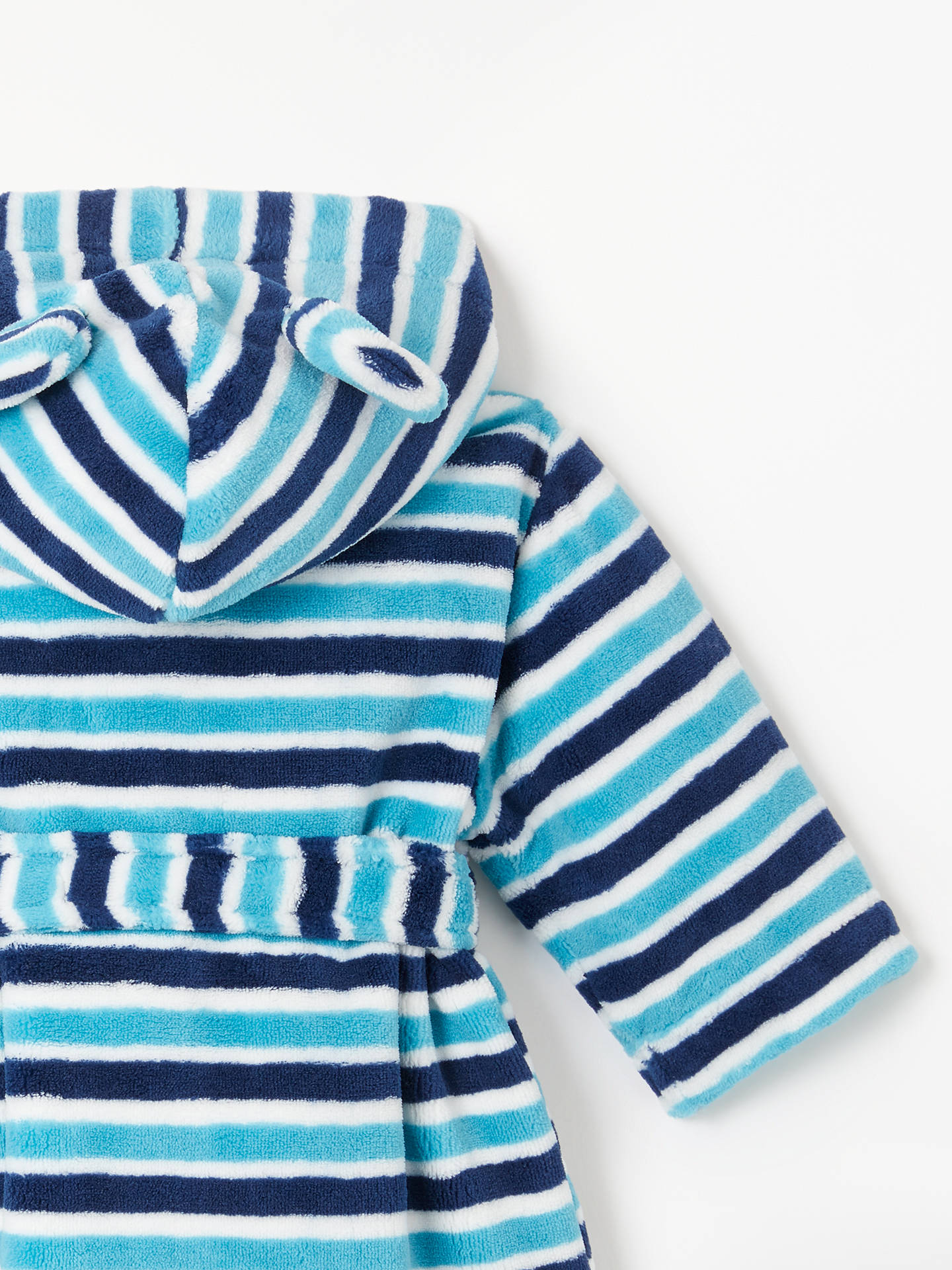 John Lewis & Partners Baby Stripe Dressing Gown at John Lewis & Partners