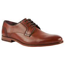 Buy Ted Baker Iront Leather Derby Shoes, Tan Online at johnlewis.com