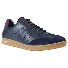 Buy Ted Baker Orlee Retro Cupsole Trainers, Dark Blue Online at johnlewis.com