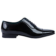 Buy Ted Baker Karney Pointed Toe Cap Oxford Shoes, Glossy Black Online at johnlewis.com