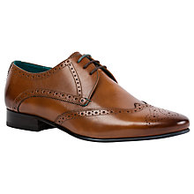 Buy Ted Baker Hosei Pointed Brogues, Brown Online at johnlewis.com