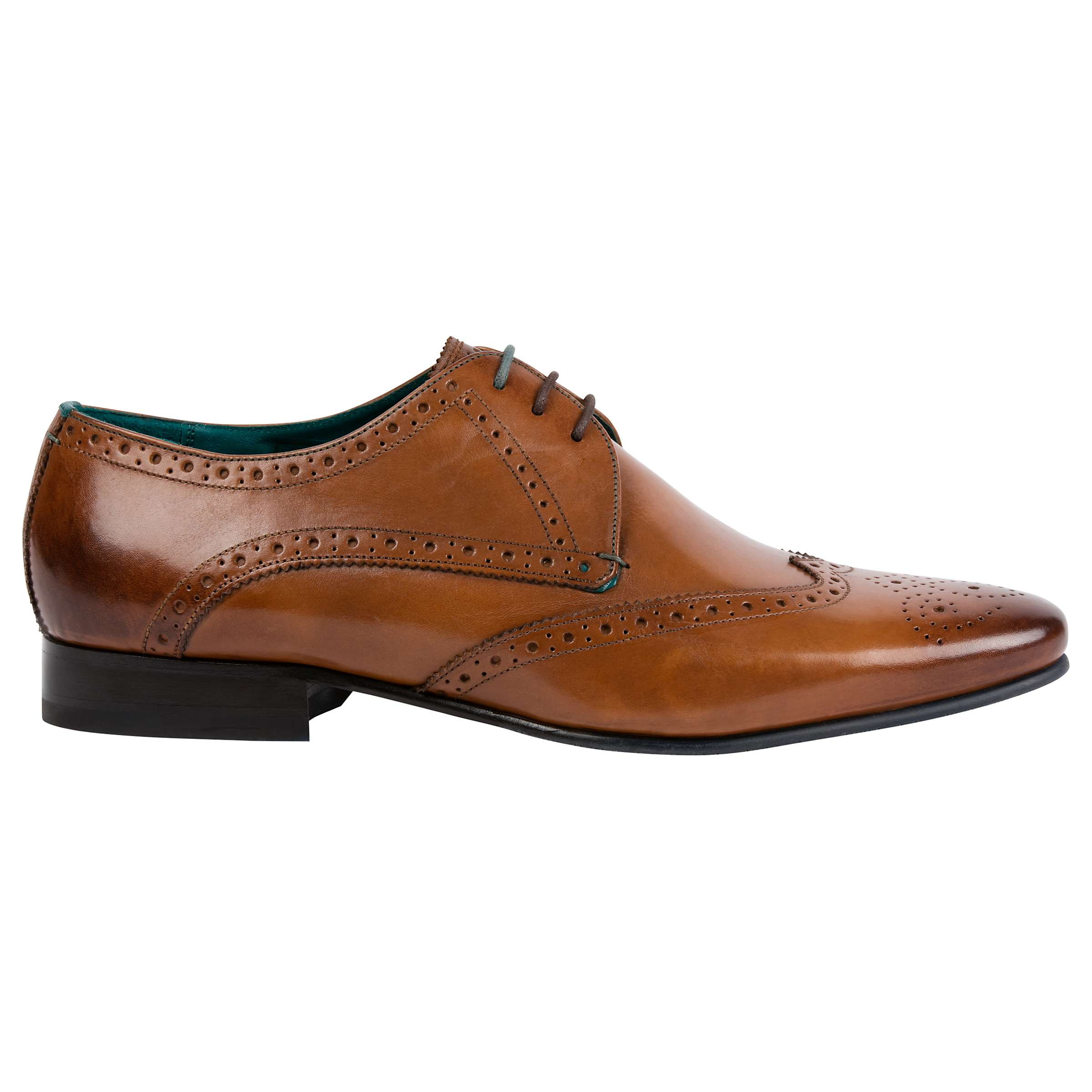 for whole family outlet store sale crazy price Ted Baker Hosei Pointed Brogues, Tan at John Lewis & Partners