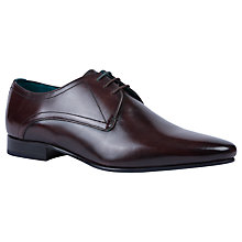 Buy Ted Baker Bhartli Pointed Derby Shoes, Brown Online at johnlewis.com