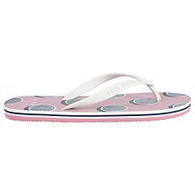 Buy Ted Baker Flyxx Toe Post Sandals, White/Pink Online at johnlewis.com