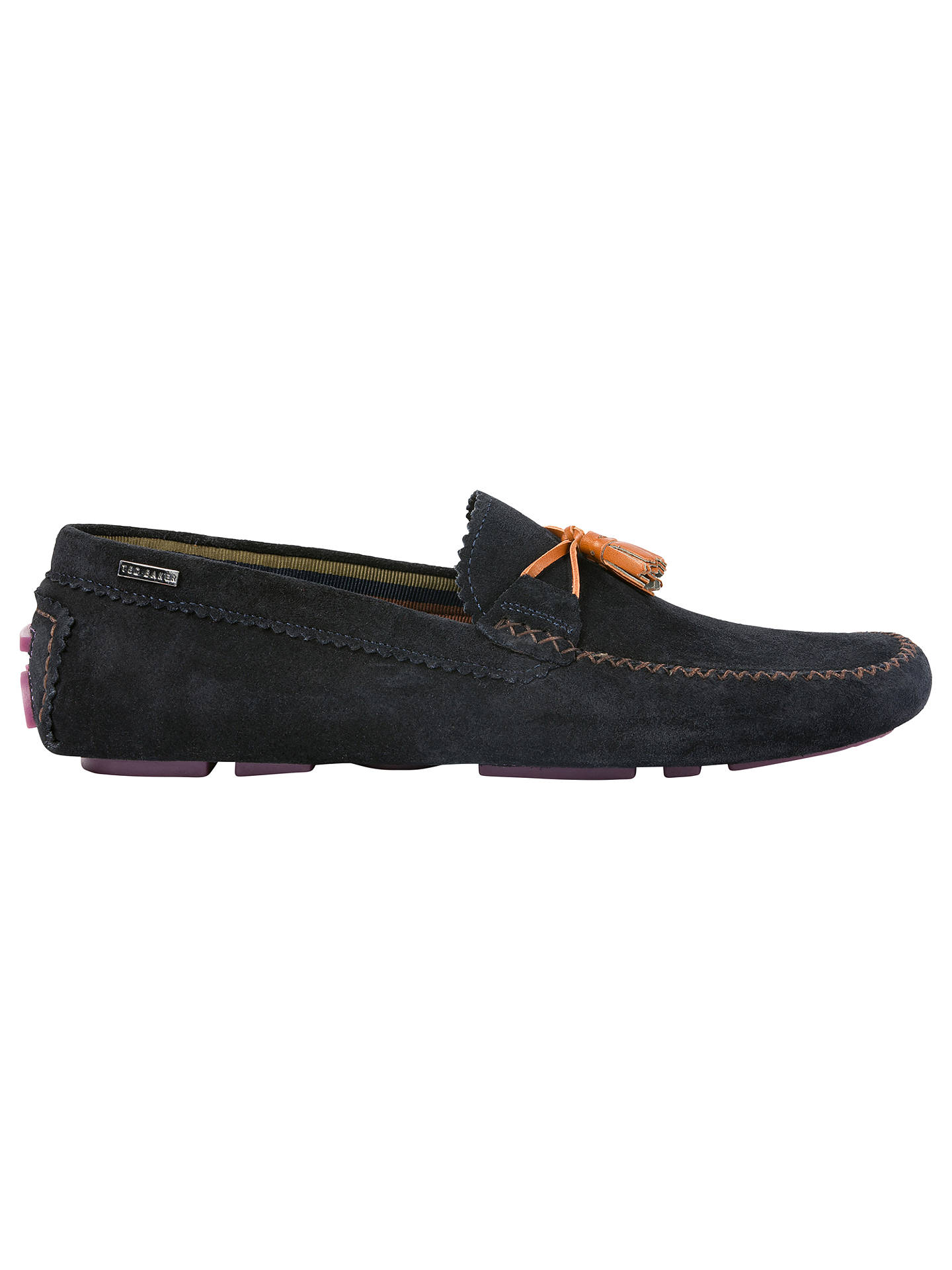 3c9bb1335aa Ted Baker Urbonns Round Toe Moccasins at John Lewis   Partners