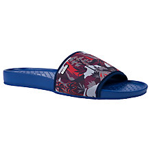 Buy Ted Baker Sauldi Printed Slider Sandals, Blue/Multi Online at johnlewis.com