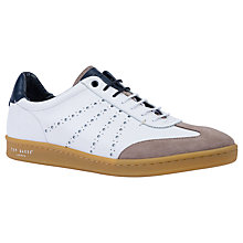 Buy Ted Baker Orleem Retro Cupsole Trainers, White Online at johnlewis.com