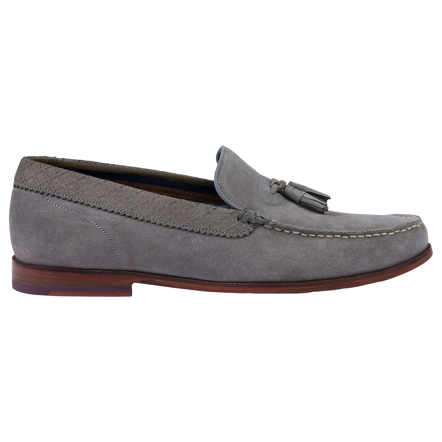 BuyTed Baker Dougge Suede Tassel Loafers, Grey, 7 Online at johnlewis.com  ...