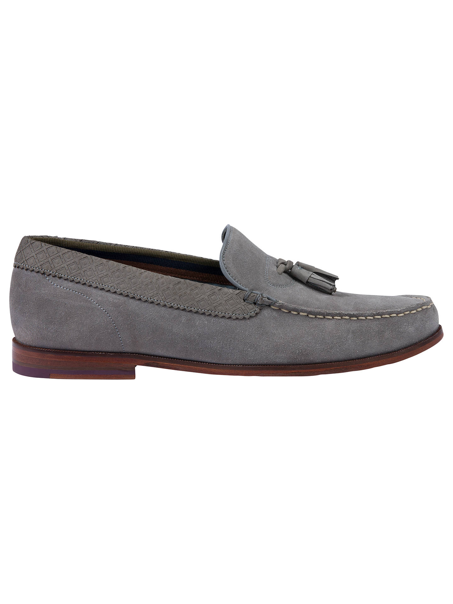 2ed192900fe Ted Baker Dougge Suede Tassel Loafers at John Lewis   Partners