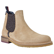 Buy Ted Baker Bronzo Chelsea Boots, Sand Online at johnlewis.com