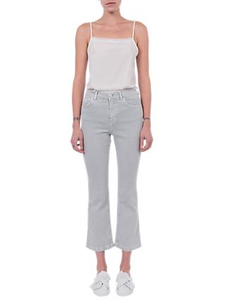 French Connection Antique Kick Cropped Jeans, Skylon Grey