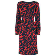 Buy L.K.Bennett Alex Printed Dress, Blue Geranium Online at johnlewis.com