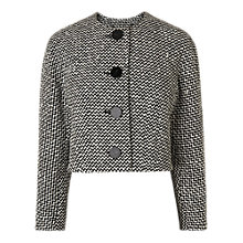 Buy L.K.Bennett Yves Cropped Tweed Jacket, Black/White Online at johnlewis.com