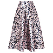 Buy L.K.Bennett Lilith Printed Skirt, Lavender Blue Online at johnlewis.com