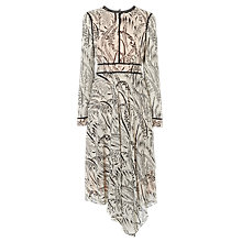 Buy L.K.Bennett Linnea Printed Silk Dress, Cream Online at johnlewis.com