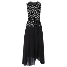Buy L.K.Bennett Johanna Lace Trim Dress, Black/Floral Online at johnlewis.com