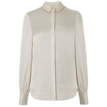 Buy L.K.Bennett Fran Scallop Detail Top, Cream Online at johnlewis.com