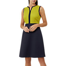 Buy Hobbs Teresa Dress, Navy/Chartreuse Online at johnlewis.com