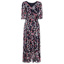 Buy L.K.Bennett Delina Silk Print Dress, Blue/Pink Online at johnlewis.com