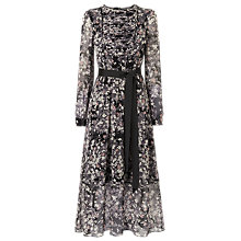 Buy L.K.Bennett Nao Silk Dress, Print Black Online at johnlewis.com