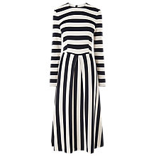 Buy L.K.Bennett Maria Bold Stripe Dress, Blue Cream Online at johnlewis.com