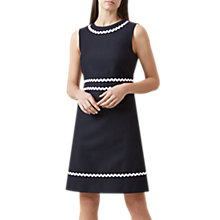 Buy Hobbs Melonie Dress, Navy Online at johnlewis.com