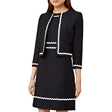 Buy Hobbs Melonie Jacket, Navy Online at johnlewis.com
