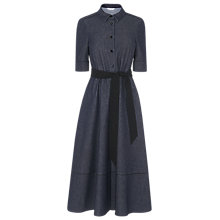 Buy L.K.Bennett Reene Cotton Mix Dress, Blue Denim Online at johnlewis.com