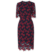 Buy L.K.Bennett Luann Printed Dress, Blue Geranium Online at johnlewis.com