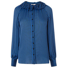 Buy L.K.Bennett Belle Silk Top, Blue/Black Online at johnlewis.com