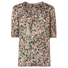 Buy L.K.Bennett Sukie Print Silk Top, Print/Multi Online at johnlewis.com