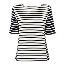 Buy L.K.Bennett Paris Stripe Jersey Top, Blue/Cream Online at johnlewis.com